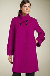 George Simonton Studio Foldover Collar Lambswool Coat