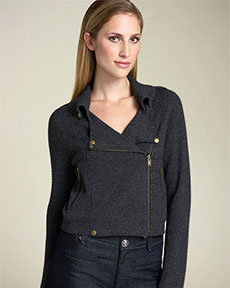 Twelfth Street by Cynthia Vincent Motorcycle Sweater Jacket