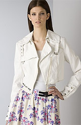 Pencey Women's Moto Jacket and Lust Lace Skirt
