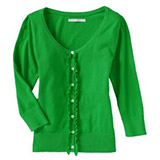 Women's Ruffled Button-Front Cardigans