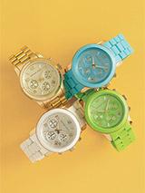 Michael Kors 'Turquoise Catwalk' Chronograph Watch