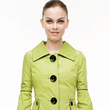 Water resistant jacket with pleated balloon sleeve detail