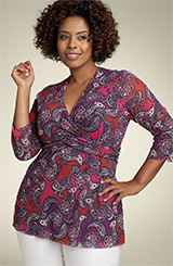 Sweet Pea by Stacy Frati Banded Surplice Top