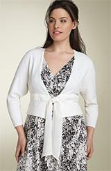 Donna Ricco Tie Front Crop Cardigan