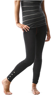 Free People Black Rouched Legging