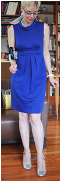 Cobalt Tunic Dress in Heels