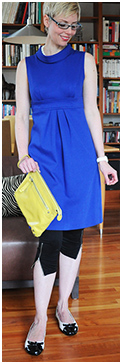 Cobalt Tunic Dress with Leggings