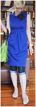 Cobalt Tunic Dress with Clamdiggers