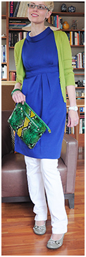 Cobalt Tunic Dress with Jeans