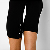Cotton Spandex Jersey Placket Legging