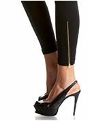 Gold Zip Legging