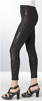 French Connection Leopard Shine Jersey Leggings