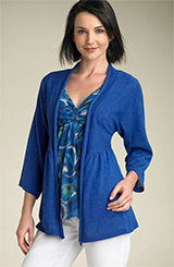 One A Open Front Slub Cardigan