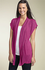 Absolutely Cotton Pointelle Open Cardigan