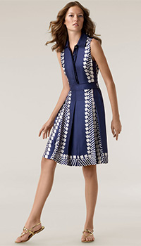 Tory Burch Patricia Silk Twill Dress