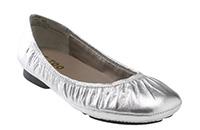 Me Too 'Nadia' Flat - Silver Nappa