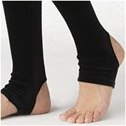 Aqua Women's Stretch Velvet Leggings