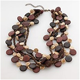 SONOMA life+style® Gold-Tone Beaded Multistrand Necklace