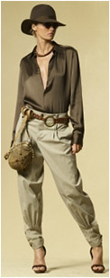 Cotton Chino Gaucho Pant