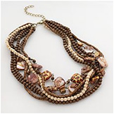 SONOMA life+style® Gold-Tone Beaded Leopard Multistrand Necklace
