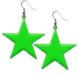 Neon 'Star' Design Earrings
