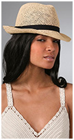 Open Weave Fedora with Navy Band