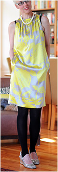 Yellow Sack Dress