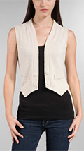 JET Tees Layer Vest in Cement