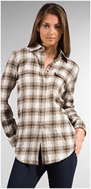 Elizabeth and James Plaid Boyfriend Bonfire Shirt