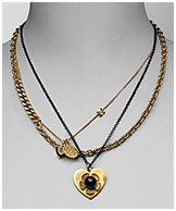 "Juicy Couture ""Boho Girl"" Short Layered Necklace 17"""