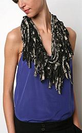 UO Shredded Jersey Necklace