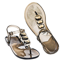 Stone Accented Jelly Sandal