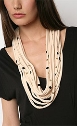 Urban Renewal Studded Jersey Necklace