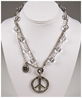 World Peace Necklace in Silver by Sisi Amber