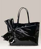 Valentino Bow Trim Patent Leather Tote