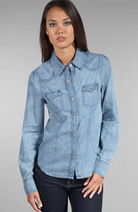 Sanctuary Sadie Chambray in Faded Denim