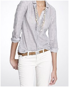 Women'S Blouse Tuck In Or Out 114