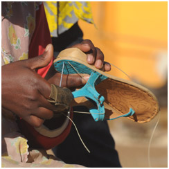 Making of a Thong Sandal