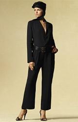 Silk Tuxedo Jumpsuit