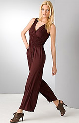 Smocked Jersey Jumpsuit
