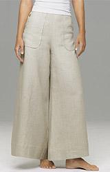 Wide-Leg Linen Pants