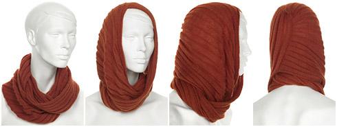 Вяжем шарф снуд.  Вязать нужно прямым полотном.  Половина из которого.